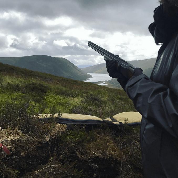 Haglgevær bjerglandskab Skotland