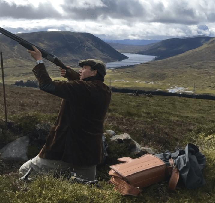 Skytte i skydegrav Skotland fuglejagt