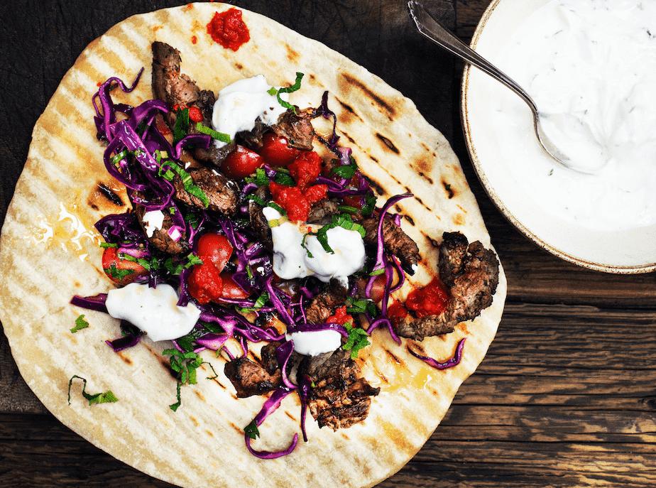 Vildtopskrift på rådyr shawarma